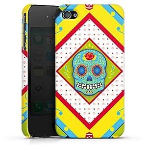 Carcasa Design Funda para Apple iPhone 4 / 4S PremiumCase white - Maya Skull