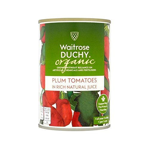 Organic Plum Tomatoes Waitrose 400g - Pack of 6 by WAITROSE