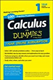 1,001 Calculus Practice Problems for Dummies Access Code Card (1-Year Subscription), Consumer Dummies, 111884968X