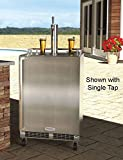 Marvel MO24BTSMRS Outdoor Mobile Beer Dispenser, Twin Tap, Solid Door, Right Hinge, 24'', Stainless Steel