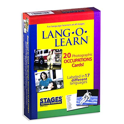 Stages Learning Materials Stages Learning Materials Lang-O-Learn ESL Occupation Vocabulary Cards Flashcards for English, Spanish, French, German, Italian, Chinese, Korean (Gardeners Helper)