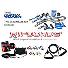 Ultimate Suspension Gy / Resistance Band Training Kit - The Human Trainer and Ripcords