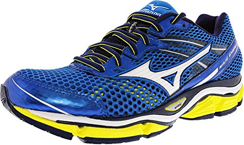 Mizuno Men's Wave Enigma 5 Running Shoe, Electric Blue Lemonade/White, 7.5 D US
