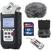 Zoom H4n Pro 4-Channel Handy Recorder Bundle with Custom Windbuster for Zoom H4n, SKB Case, Remote Control for Zoom H4n and 16GB SD Card