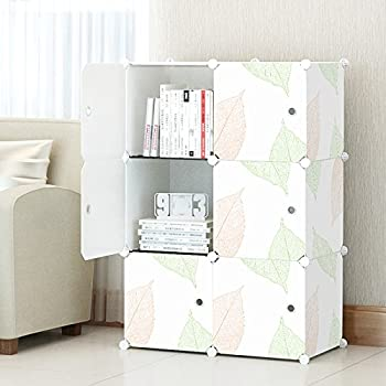 Exceptionnel KOUSI 3 Tier Storage Cube Closet Organizer Shelf 6 Cube Cabinet Bookcase,  White