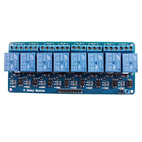 JBtek 8 Channel DC 5V Relay Module for Arduino Raspberry Pi DSP AVR PIC ARM (Inputs Relay 8)