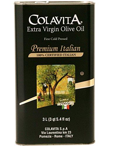 Extra Virgin Italian Olive Oil (Colavita Premium Italian Extra Virgin Olive Oil Tin, 101.4)