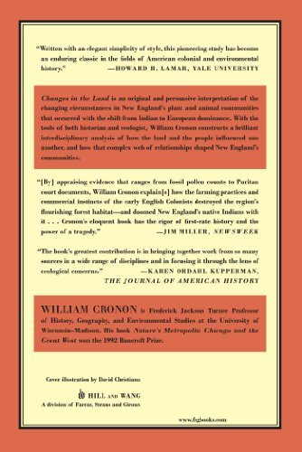 essays on changes in the land by william cronon
