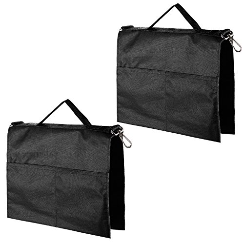 Neewer 2 Pack Photography Studio Water Bag with 4 Outer Pouches for Light Stands, Boom Stand, Tripod(Black)