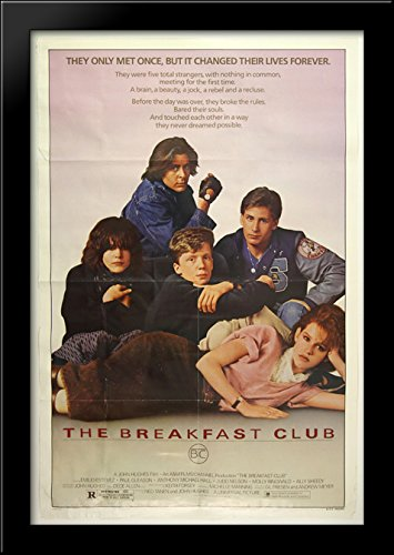 The Breakfast Club 28x40 Large Black Wood Framed Print Movie