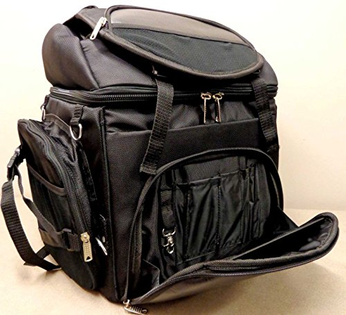 BAR MOTORCYCLE BAG BLACK LARGE NEW LUGGAGE SISSY PACK TRAVEL BACK TRAVEL rt1RtAxqw