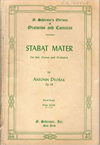 Composers with so many great books to read and so many other kindle e books collections antonin dvorak stabat mater for soli chorus orchestra vocal score schirmer edition 586 epub fandeluxe Choice Image