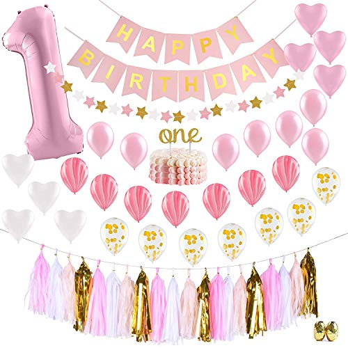 PartyHooman BGD0001 First Birthday Decorations For Girl