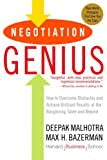 Negotiation Genius, Deepak Malhotra and Max Bazerman, 0553384112
