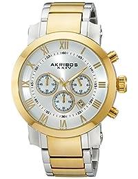Akribos XXIV Men's AK622TT Grandiose Chronograph Quartz Stainless Steel Bracelet Watch