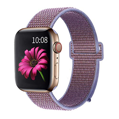 Booyi Sport Band Compatible with Apple Watch 38mm 40mm 42mm 44mm,Strap Replacement for Series 4 3 2 1