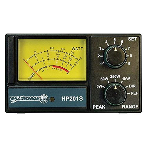 Workman HP201S SWR/Power Meter for CB Radio 5 50 250 1000 (Best Meters For Cb Radios)