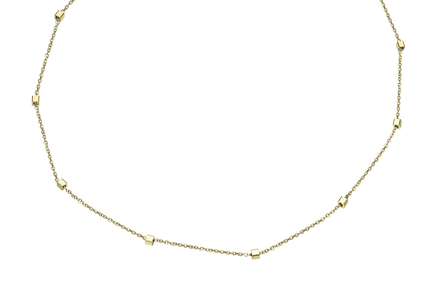 SCARL Dainty Rose Gold Minimalist Necklaces Beaded Curb Chain Choker for Women