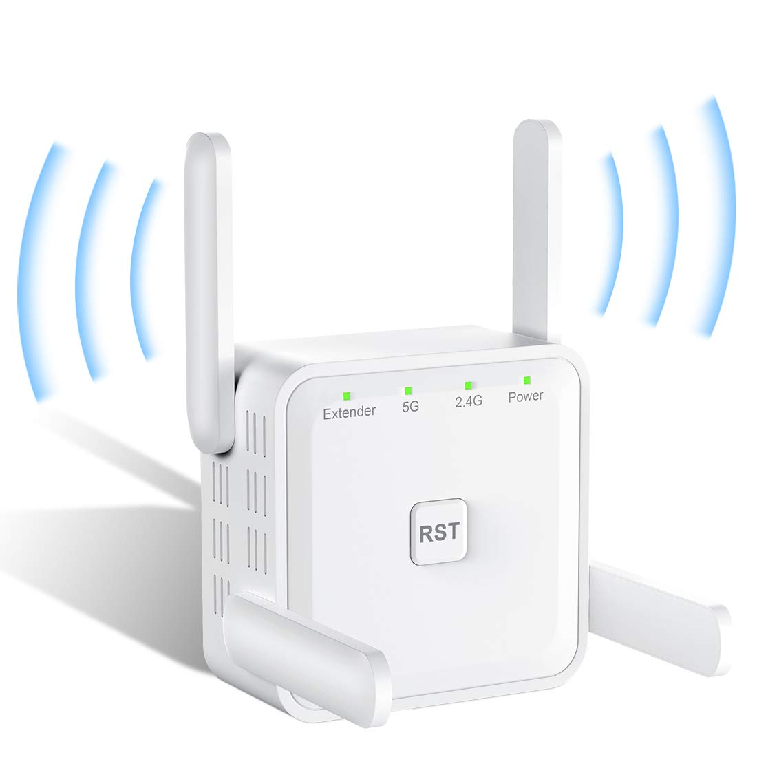 1200Mbps Wireless WiFi Amplifier rockspace WiFi Repeater Access Point Mode and WPS 5G and 2.4G Dual Band WiFi Booster with 1 Ethernet Port WiFi Extender for Home of 120 ㎡ with UK Plug