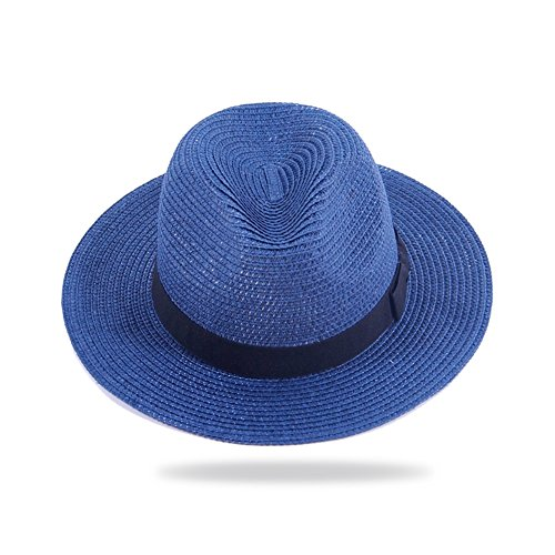 Summer sunHat/Lady straw hat/Flat eaves and straw hats/Broad-brimmed hats/Panama Beach hats/Holiday hats-C