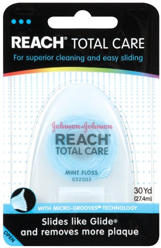 REACH Total Care Mint Floss, Mint, (Pack of 6)
