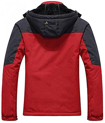 Sawadikaa Lana Esquí Ropa de Excursionismo Chubasqueros Nieve Impermeable Deporte Libre Mujer Aire de de Rojo Capa Chaqueta Al Chaqueta rqgcrH47a