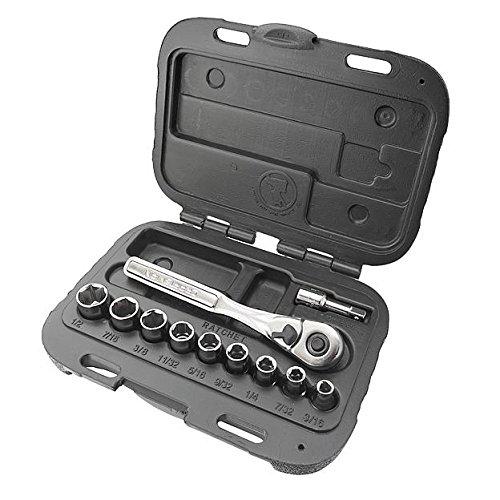 Craftsman 11 Piece 6 Point Standard 1/4 Inch Socket Wrench Set, 9-34860