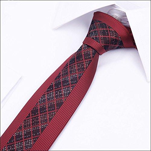 Mens stripe polka dot necktie tie,Silk finish polyester Formal party suit necktie Wedding blue black gray ties (2.56inch) (Blue Gray Stripe Silk Necktie)