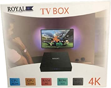 ALL Shop – Android TV Box 4 K Ultra HD 7.1.2 Smart TV WiFi Control Remoto Royal 4GB RAM 32GB ROM 4 Core amlogic: Amazon.es: Electrónica