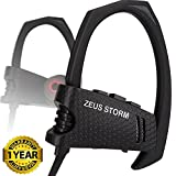 Workout Bluetooth Headphones In Ear ZEUS STORM Best Sport Headphones IPX5 Sweatproof Running Headphones Wireless Earbuds with Microphone Bluetooth Stereo Headset for Sports