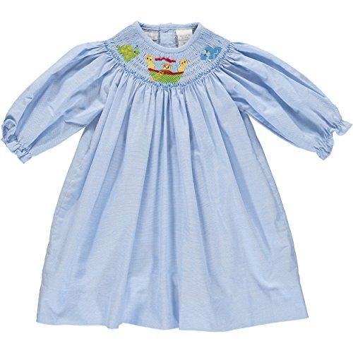 (Carriage Boutique Baby Girls Dress Noah's Arc Bishop Dress Blue)