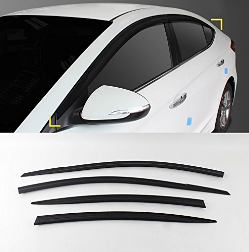 Sell by Automotiveapple, SAFE Smoke Window Visor Vent Rain Wind Sun Guard 4-pc Set For 2017 Hyundai Elantra : AVANTE AD