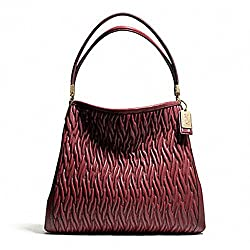 Coach Madison Gathered Leather Twist Small Phoebe Shoulder Bag 26257 Brick Red