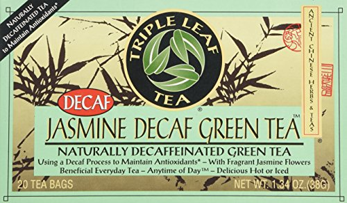 Triple Leaf Tea, Inc Tea, Jasmine Green, Decaf, 20-Count (Pack of 6)