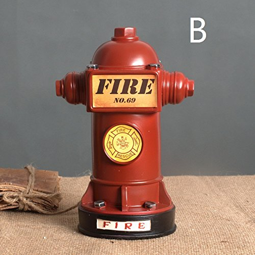European retro style fire hydrant bar cafe ornaments living room TV cabinet bingo TA122729 ( Color : A ) by Supper PP