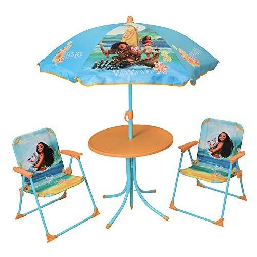 FUN HOUSE 713003 DISNEY VAIANA Salon De Jardin Pour Enfant Avec Table 2 Chaises Et