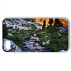 ANSEL ADAMS WILDERNESS - Case Cover for iPhone 4 and 4s (Mountains Series, Watercolor style, White)