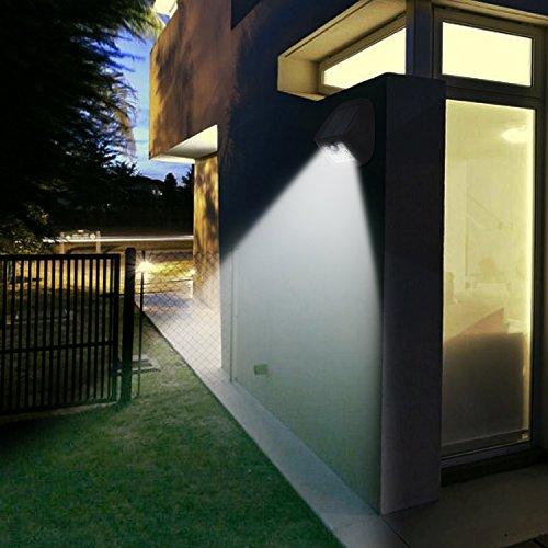 Outdoor Porch Security Lighting For Dark Winter Nights: Solar Motion Sensor Lights 10 LED Outdoor Waterproof Wall