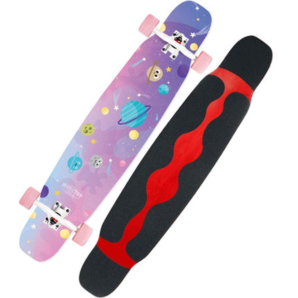 【最安値挑戦】 初級成人男性と女性のプロフェッショナルロングボードスケートボード4輪スクーターブラシヒップボードロングボード Snow) (色 : Snow) B07KS7HK8C Pink (色 planet B07KS7HK8C Pink planet, 写真プリントのデジカメプリント:8060392e --- a0267596.xsph.ru