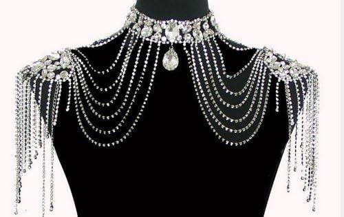 Crystal Shoulder Decorations for Bride Shoulder Decoration for