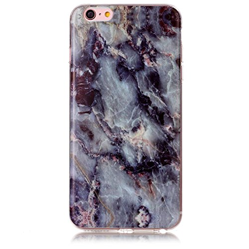 Price comparison product image UCLL iphone 6 plus Case , iphone 6s plus Case Marble Design for Iphone6/6s plus Slim Soft TPU Bumper Protective Durable Shockproof Case For Iphone with a Screen Protector(gray)
