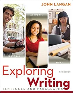 exploring writing paragraphs and essays john langan  exploring writing sentences and paragraphs