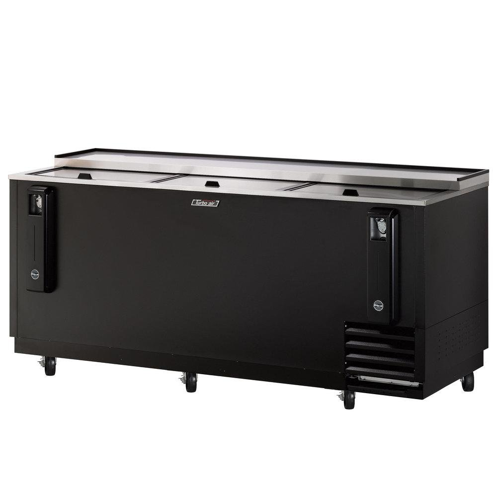 Turbo Air TBC80SB 22.6 cu. ft. Bottle Cooler with Forced Air Cooling System High Density PU Insulation PE Coated Dividers Efficient Refrigeration System and Stainless Steel Construction: