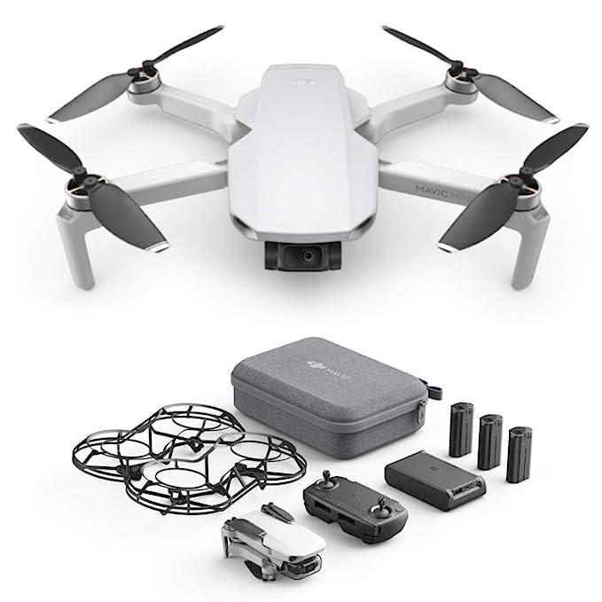 DJI Mavic Mini Combo, Dron Ultraligero y Portátil, Duración ...