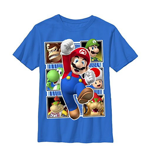Nintendo Mario Number One - Boys Graphic T Shirt (Bowsers Kids)