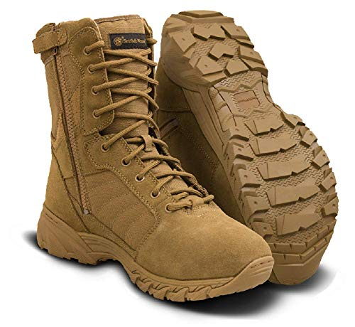 (Smith & Wesson Footwear Men's Breach 2.0 Tactical Size Zip Boots, Coyote, 12.5)