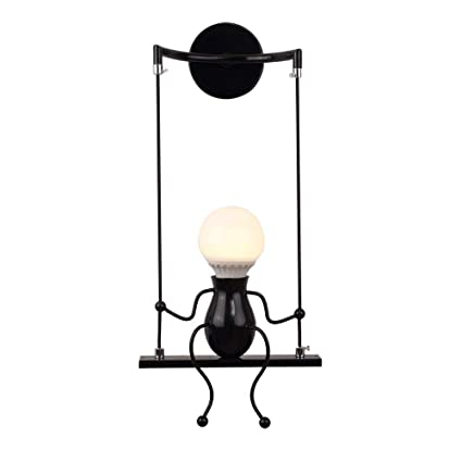 Amazon.com: LIBINA Retro Lámpara de Pared Interior Vintage ...