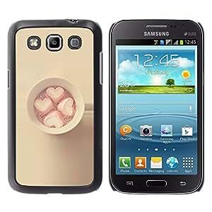 FlareStar Colour Printing Marshmallow Minimalist Yellow Pink cáscara Funda Case Caso de plástico para Samsung Galaxy Win / i8550 / i8552 / Grand Quattro