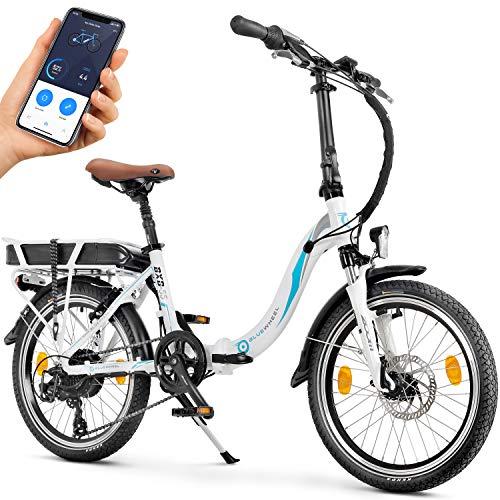 🥇 Bluewheel Bicicleta eléctrica de 20 Pulgadas Plegable 14