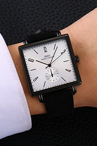 Generic Retro Square Big Dial Watch Men And Women Student Couple Valentines Gift Shi Ying Watch Really Belt Fashion Watch